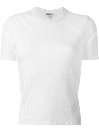 top knit women white