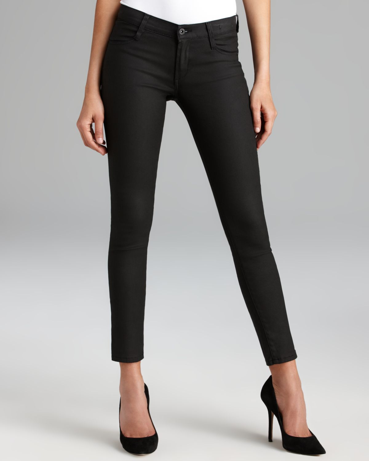 James Jeans - Twiggy Skinny Coated in Black | Bloomingdale's