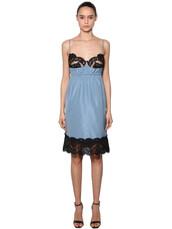 dress,lingerie dress,lace,light,blue,light blue
