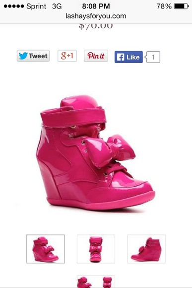 shoes wedge pink patent wedge sneaker sexy hightop shiny