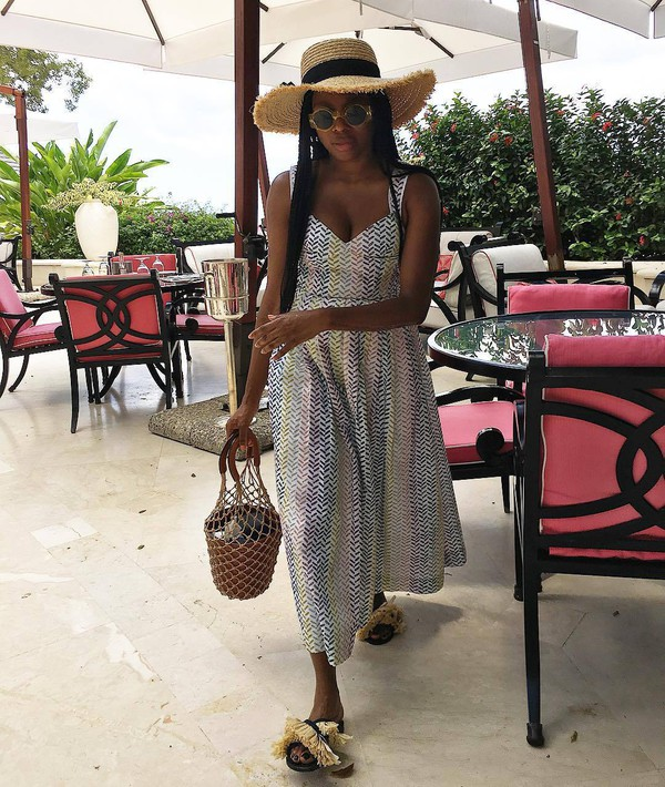 bag dress hat straw hat big straw hat staud bag shoes
