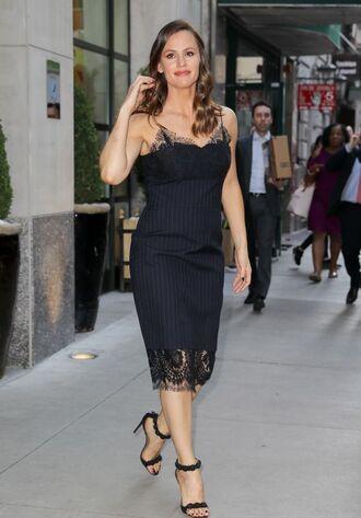 dress sandals jennifer garner black dress lace dress midi dress