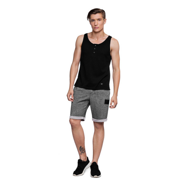 Shorts: fusion clothing, grey, grey short, grey shorts, graphite ...