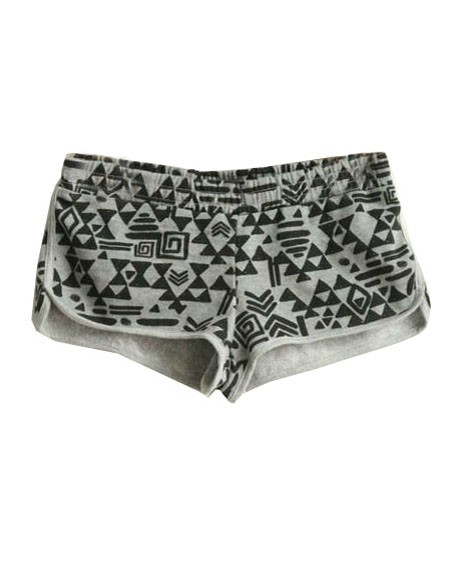 Sweat shorts in geo print