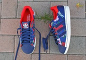 shoes,sneakers,adidas,floral,flowers,blue,summer,cool,fashion,adidas superstars,superstar