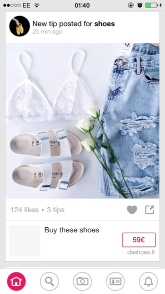 underwear white lace bralette bra vogue shoes jeans