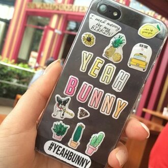 phone cover yeah bunny stickers stickers 3d iphone tumblr