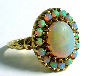 jewels colorful opal ring jewelry gem