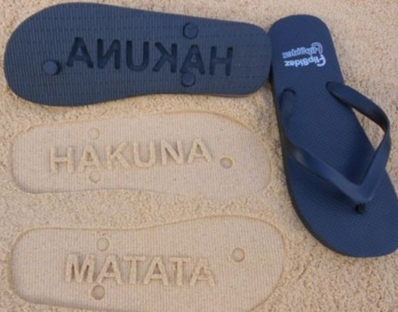 shoes summer hakuna matata cute lovely beach flip flop imprint flip flops sandals sand beachy style