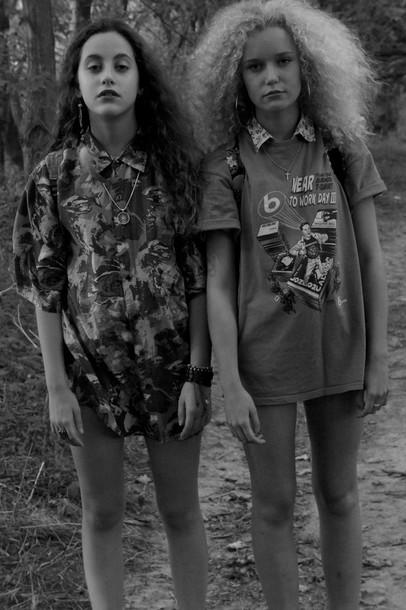 Blouse Indie Retro Hipster Vintage Grunge Punk Button Up