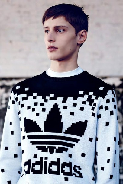 Adidas Black And White Menswear Mens Sweater Jeremy Scott