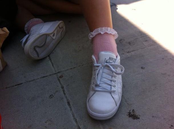 shoes nike looks like superstars tumblr pale