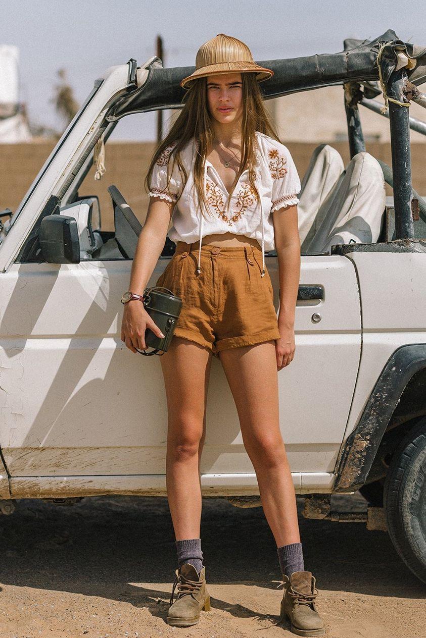 Chloe Shorts in Bronze