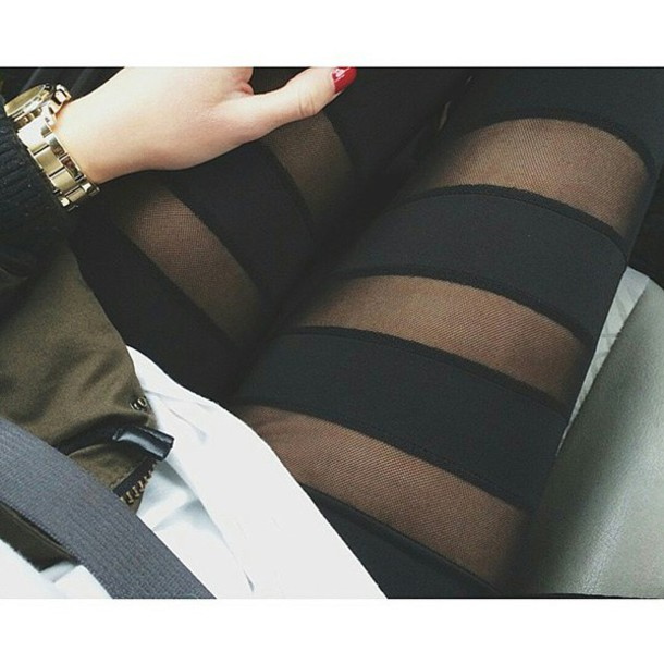 leggings black black mesh mesh leggings mesh black leggings black mesh leggings mesh stripe detail stripes striped leggings