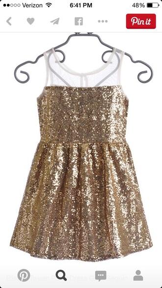 dress gold sequins