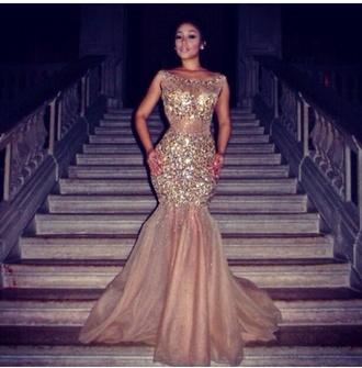 dress prom dress prom gold gold sequins shiny glitter dress mermaid prom dress