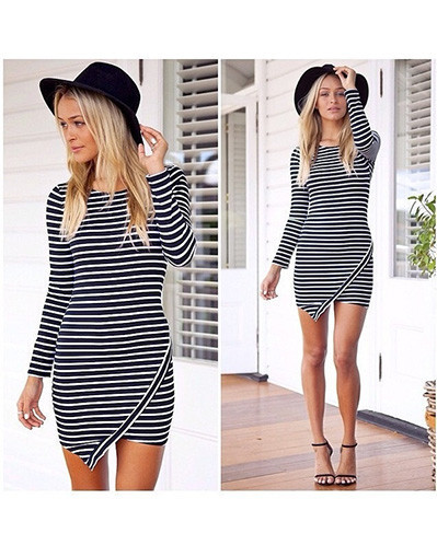 Assymetrical striped dress geometric pop celebrity blogger cherry