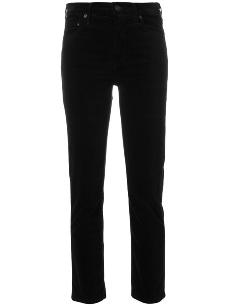 CITIZENS OF HUMANITY cropped women spandex fit cotton black pants