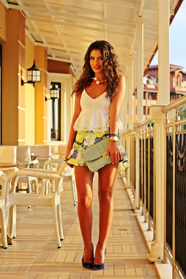 fashionhippieloves shirt skirt bag shoes sunglasses jewels