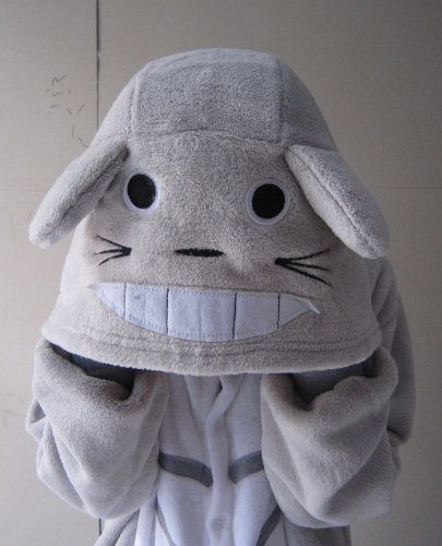 My Neighbor Totoro Kigurumi Pajamas Adult Anime Cosplay Halloween Costume White for big sale!