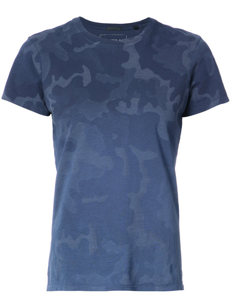 ATM Anthony Thomas Melillo t-shirt shirt t-shirt women camouflage cotton blue top