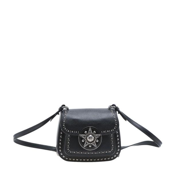 embellished bag shoulder bag black