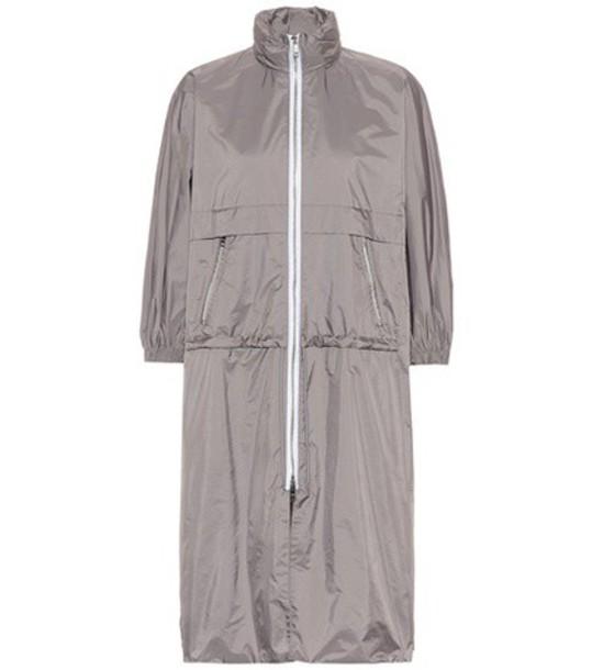 Prada jacket rain jacket cropped grey