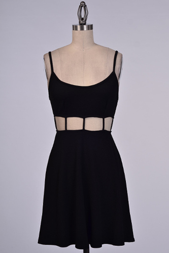 Moscato Evenings Black Dress - JuJu's Closet