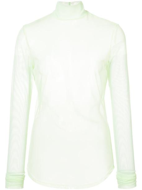 NOMIA blouse sheer mesh women spandex top