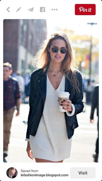 dress sweater dress sweater model streetwear style