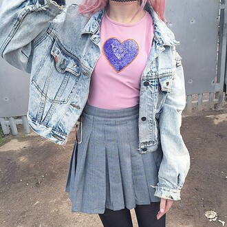 coat denim jacket fashion pastel jeans jacket