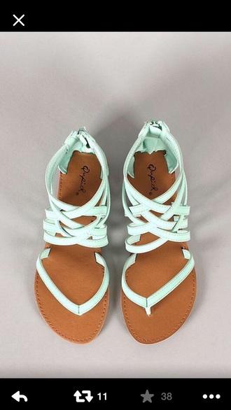 shoes sandals cute dress mint