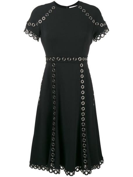 Jonathan Simkhai dress short sleeve dress short women spandex embellished black
