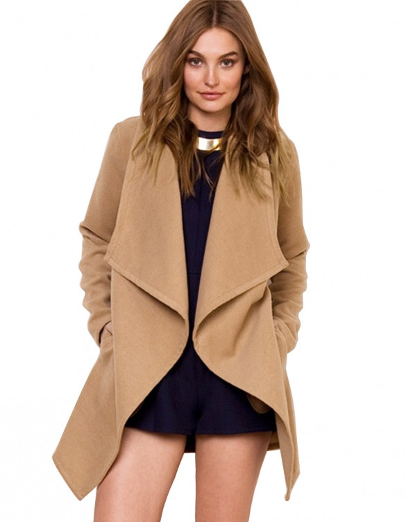 Waterfall Lapel Jacket Outfit Made