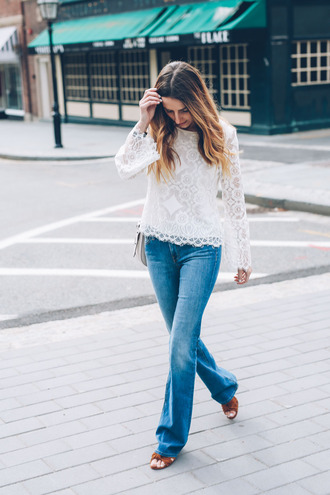 prosecco and plaid blogger blouse jeans shoes bag