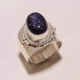 jewels silver ring purple stone big ring fashion jewelry