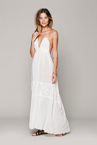 free people womens endless summer triangle top maxi