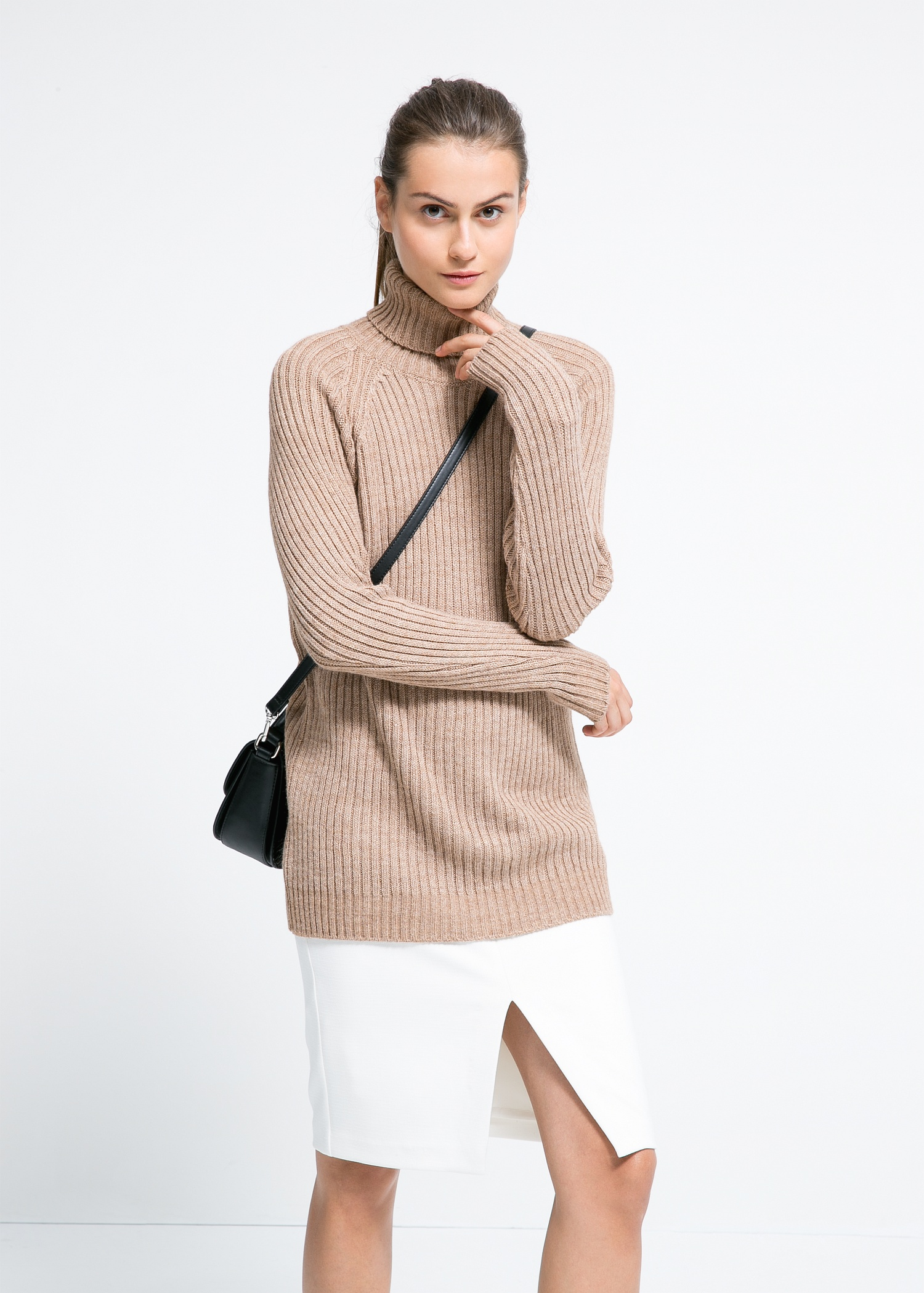 Ribbed wool-blend sweater - Cardigans and sweaters for Women | MANGO