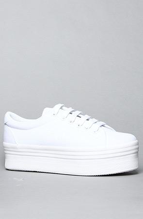 b99d1fec5c4 Jeffrey Campbell The Zomg Sneaker in White   Karmaloop.com ...