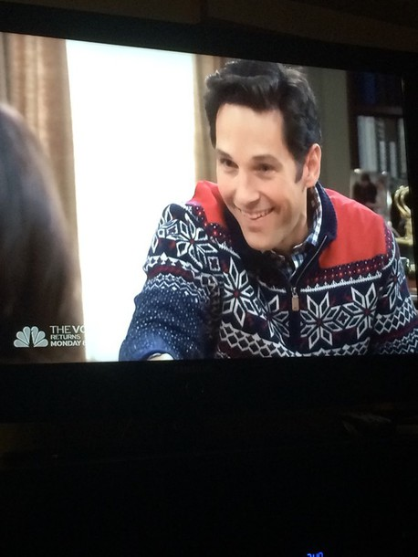 coat blue christmassy parks and recreation