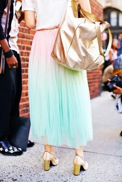 ombre skirt skirt