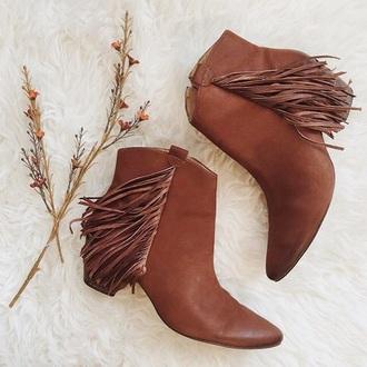 shoes brown fringes fringe shoes