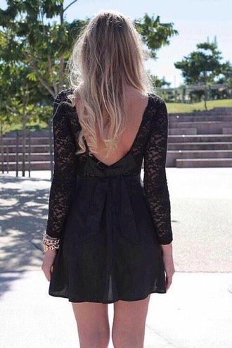 dress black lace love short summer