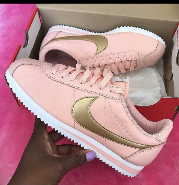 shoes pink gold nike nike shoes nike running shoes nike sneakers