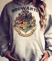 sweater,sweat,hogwart,harry potter,girl