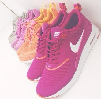 shoes air max nike air max thea orange sportswear nike running shoes purple nike shoes trainers tran like fall outfits spring nike sneakers sneakers nike nikthea pink girl pinknikes