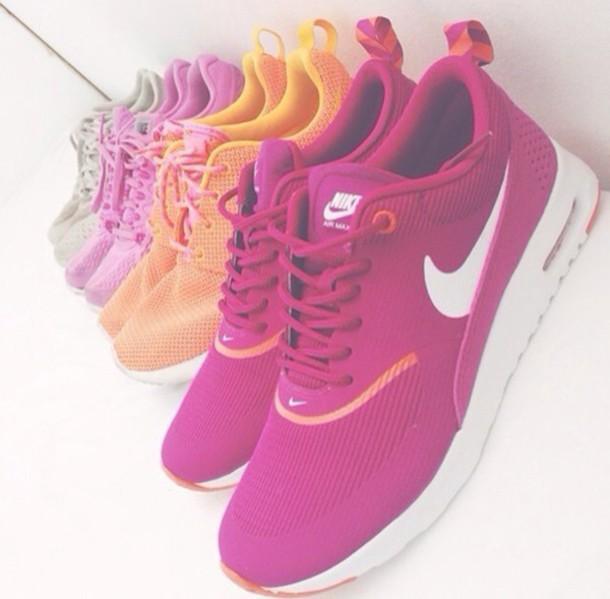 womens nike air max thea orange purple