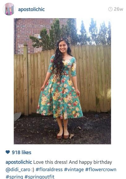 floral dress modest dress