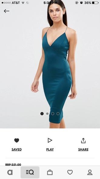 dress bodycon dress blue dress teal midi dress