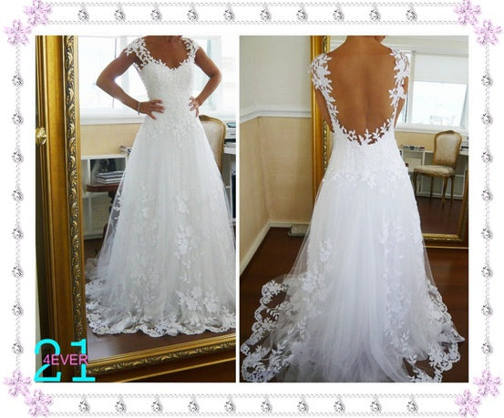 Lace wedding dresses cheap sweetheart lace wedding gown by 214ever